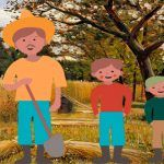Un cuento para niños con valores: El tesoro del huerto