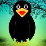 Fábula con valores de Esopo para niños: El cuervo enfermo