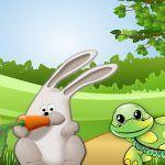 La liebre y la tortuga, una fábula sobre el esfuerzo para niños