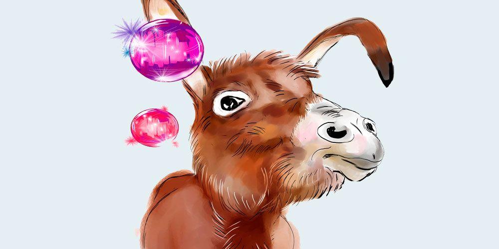 poesías infantiles de Gloria Fuertes: Pobre burro
