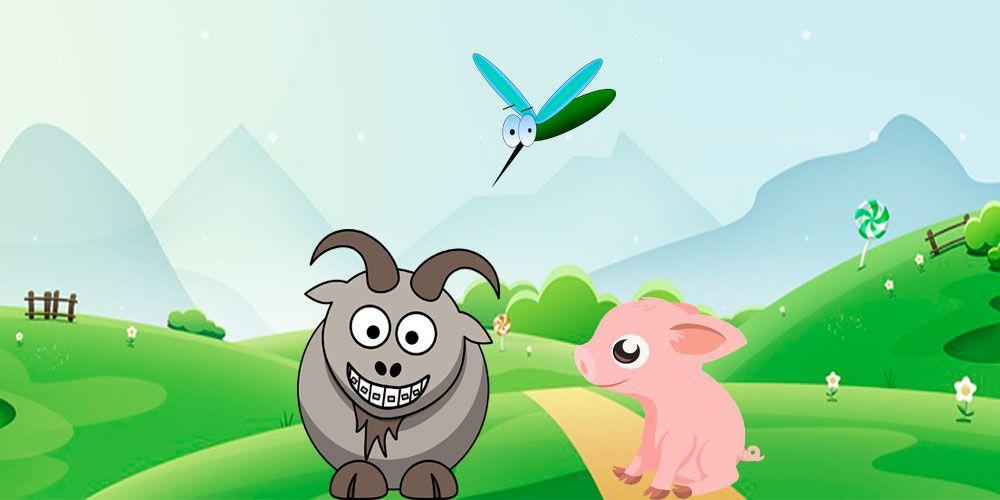 Cerdito, mosquito y chivito, una divertida poesía corta para niños de Gloria Fuertes