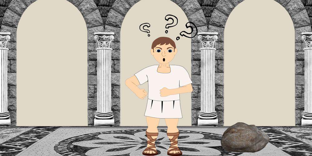 El hombre y la piedra, una fábula de Fedro sobre la resolución de problemas