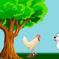 El perro, el gallo y la zorra. Fábula corta sobre la prudencia