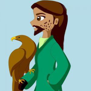 El príncipe y el halcón. Fábula corta sobre la educación