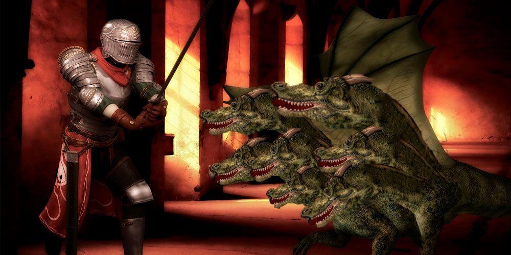 Los dos hermanos y el dragón de las siete cabezas
