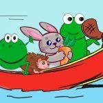 Por el alto río, poesía para niños