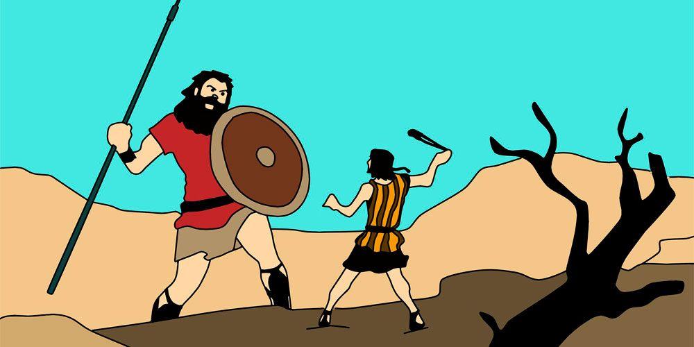 La historia de David y Goliat contada para niños