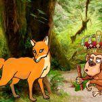 Fábula La zorra y el mono coronado rey sobre la prudencia
