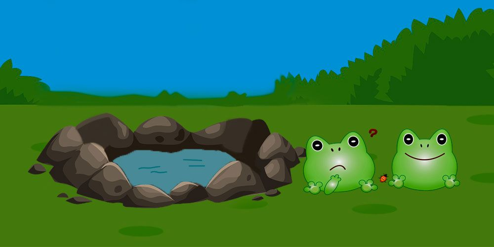 Fábula corta de Esopo sobre la prudencia: las ranas y el pantano seco