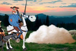 La historia de Don Quijote y las ovejas para niños