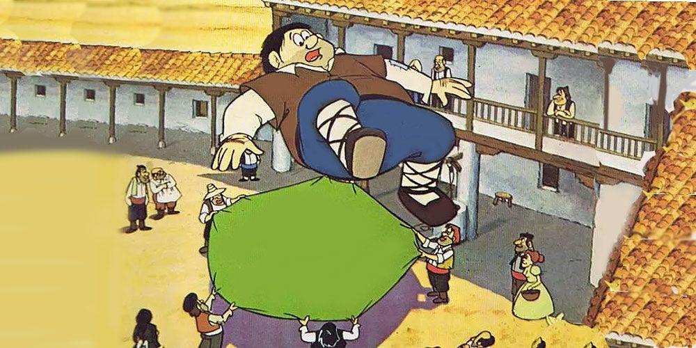 El manteo de Sancho Panza y la venta que Don Quijote creía castillo