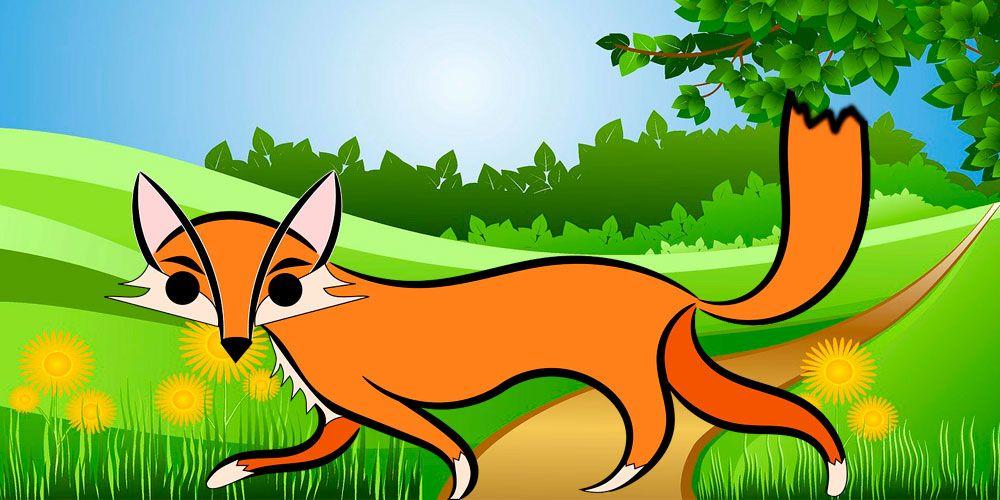 La zorra con la cola cortada, una fábula para niños con valores