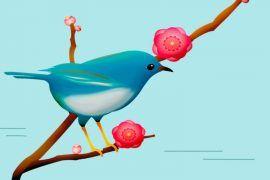 Elpájaro azul, un cuento árabe sobre la felicidad