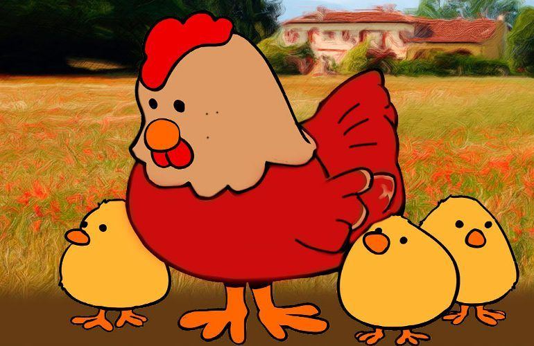 La gallinita roja, fábula para niños sobre el esfuerzo
