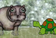 Leyenda africana para niños: El hipopótamo y la tortuga