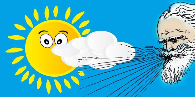 Bóreas y el sol, fábula de Esopo sobre la persuasión
