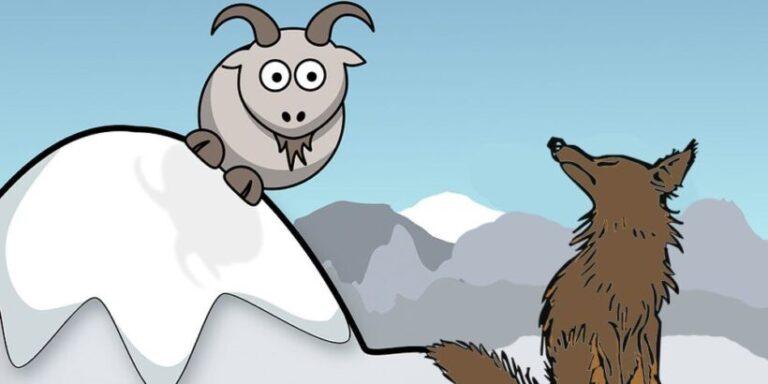 La fábula sobre la vanidad El lobo y el cabrito
