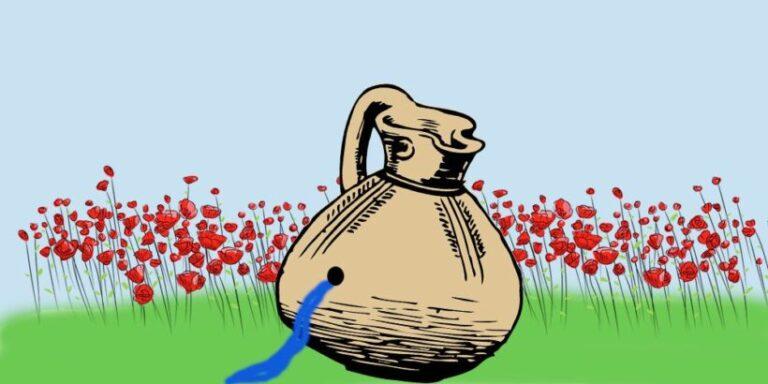 El cántaro agujereado, del libro 'Cuando el desierto florece'