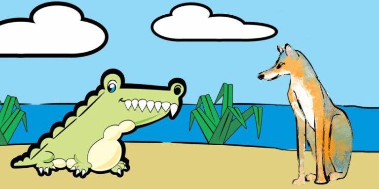 Una fábula con valores para niños: El chacal y el cocodrilo