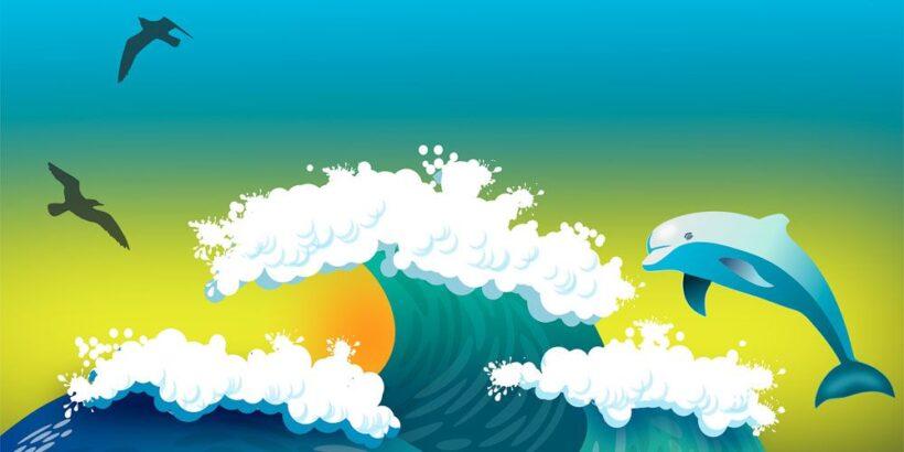 Cuento infantil con valores: El delfín que quería volar