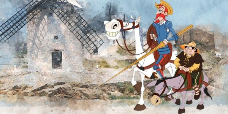 Don Quijote de la Mancha para niños: Don Quijote es armado caballero