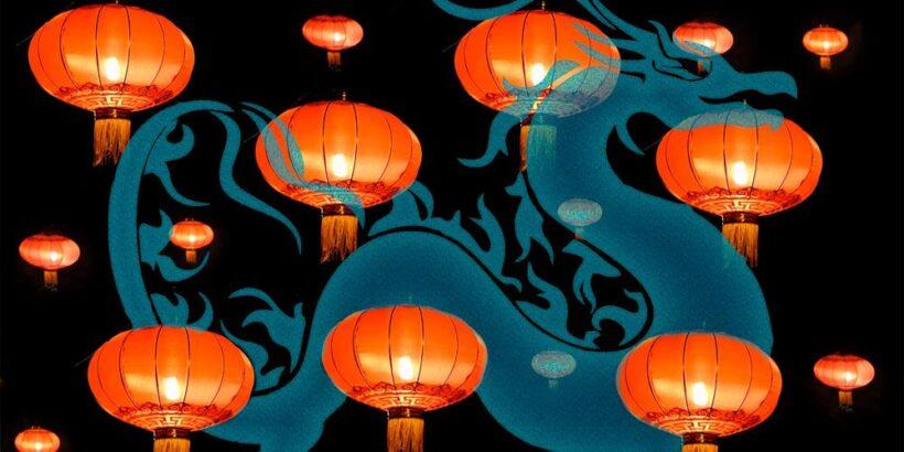 Leyenda del nuevo año chino del dragón Nian