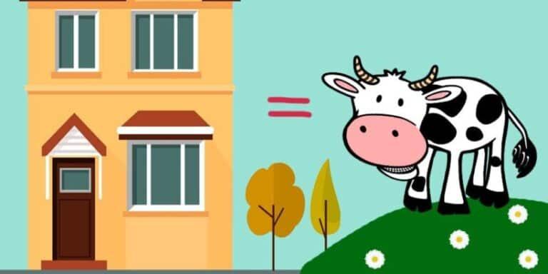 Una vaca y un edificio: un cuento infantil para jugar con las palabras