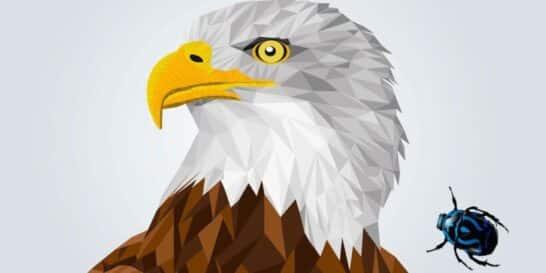 El águila y el escarabajo, una fábula sobre la humildad para los niños