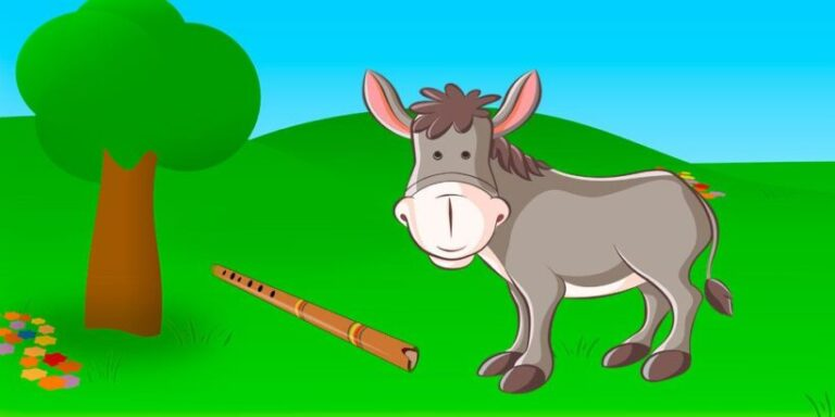 Fábula sobre la importancia de ir a la escuela: El burro flautista
