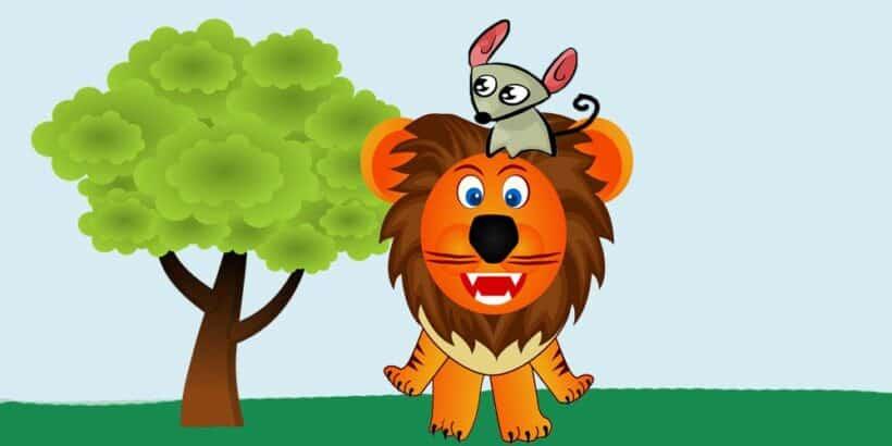 El león y el ratón, una fábula sobre la gratitud para los niños