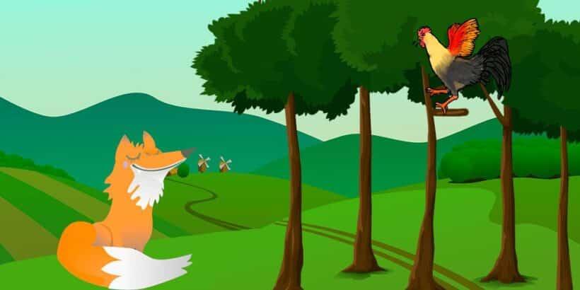 Una fábula para niños sobre el miedo: El gallo y la zorra