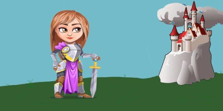Romance divertido para niños: La doncella guerrera