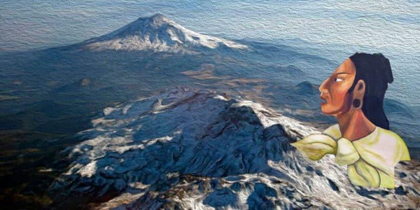 Leyenda azteca para niños: El volcán Popocatépetl