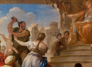 El juicio del rey Salomón: el rey Salomón y el juicio de las dos madres