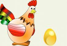 Fábula de La gallina de los huevos de oro para niños