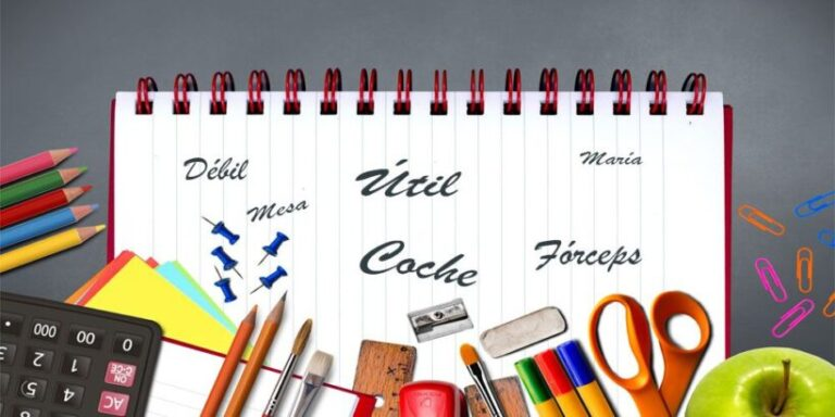 Una lista con palabras llanas con tilde para niños