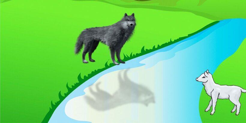El lobo y el cordero, una fábula corta de Fedro sobre la opresión de los poderosos
