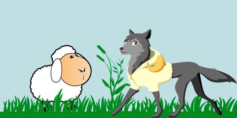 El obo con piel de oveja, fábula de Esopo para niños