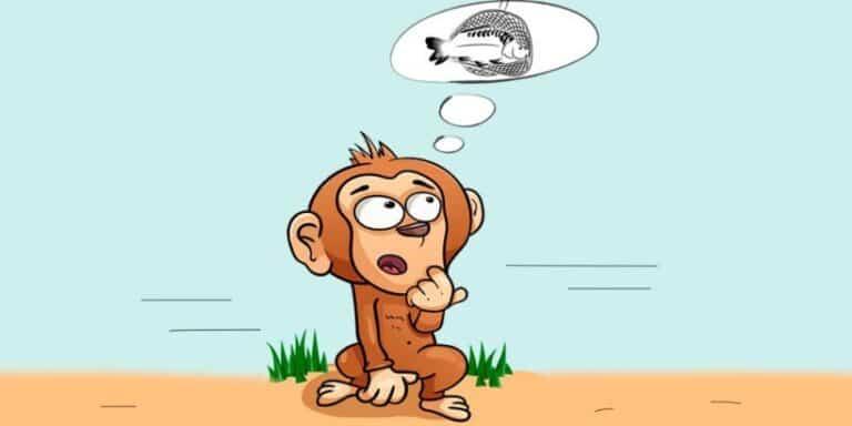 El mono y los pescadores, una fábula corta con valores