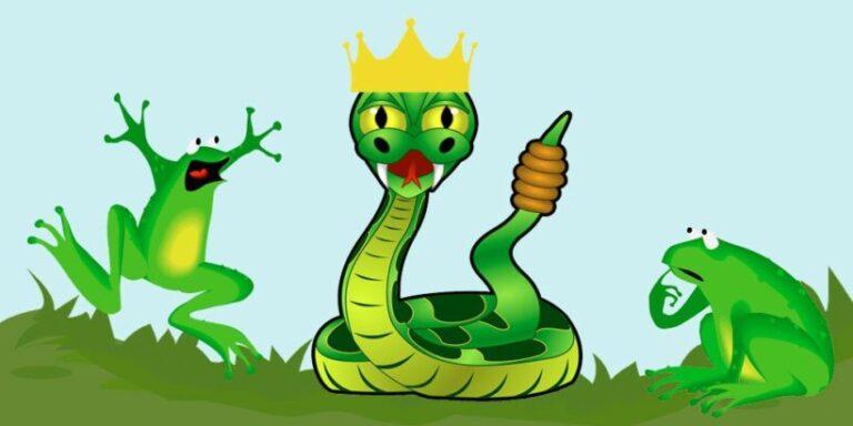 Las ranas que pidieron un rey, una fábula de Fedro sobre las normas para la convivencia