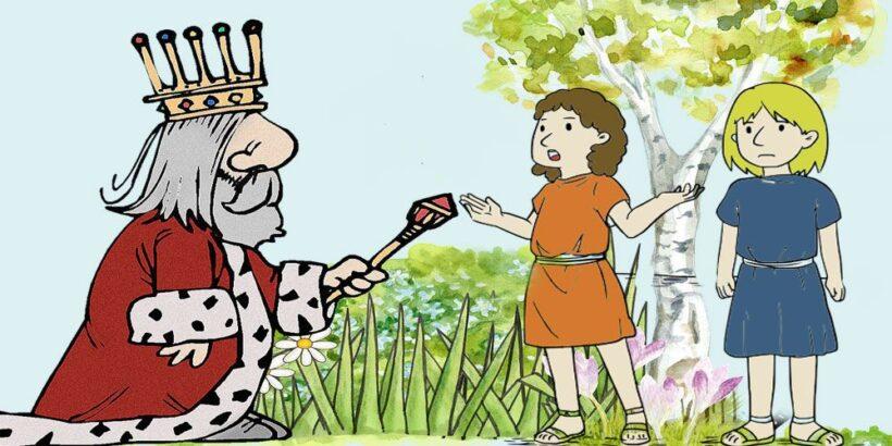 Los donceles, la pulga y el piojo, una fábula sobre los celos para niños