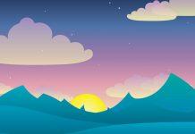 El sol quería bañarse, un romance para niños sobre la puesta de sol
