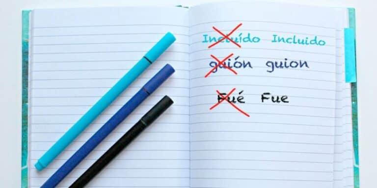 Lista con palabras que no llevan tilde aunque pienses que sí: ortografía para niños