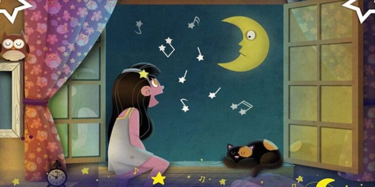 Valentina y la luna, cuento infantil con canción