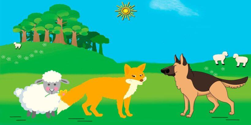 La zorra y el perro, una fábula corta sobre las apariencias