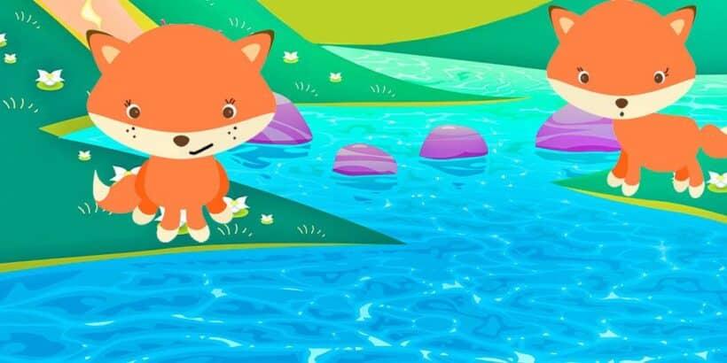 Las zorras a orillas del río Meandro, una fábula de Esopo para niños