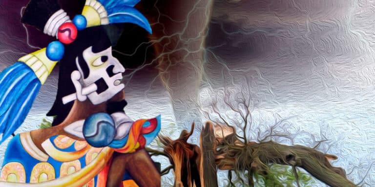 Tajín y los siete truenos, una leyenda sobre el origen de los huracanes