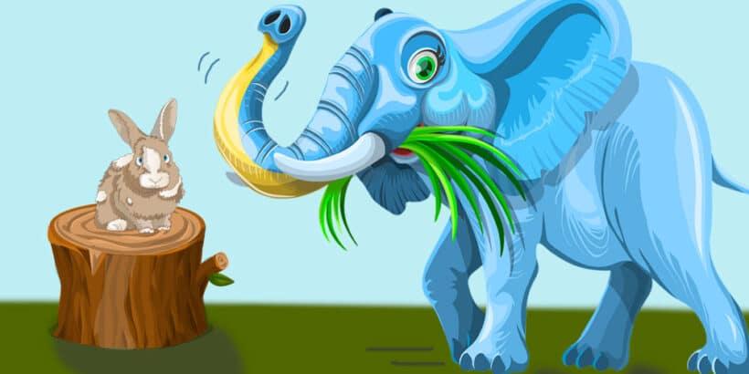 Fáula y reflexiones de La liebre y el elefante