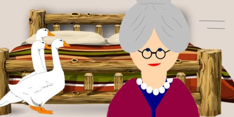 La viejita y los gansos, un cuento para niños sobre la generosidad