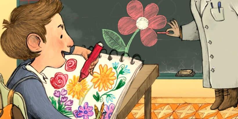 Cuento para niños y mayores sobre la imaginación: La flor roja con tallo verde